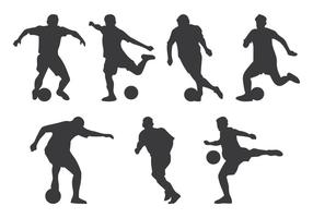 Silhueta do jogador do futsal vetor