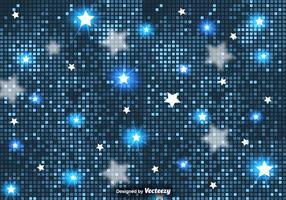 Fundo abstrato do vetor de estrelas e azulejos azuis