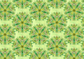 Padrão colorido da mandala do vetor verde