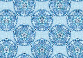 Padrão colorido da mandala do vetor azul