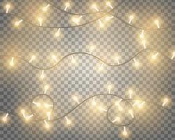 luzes brilhantes da corda vetor