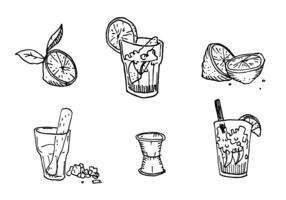 Conjunto de vetores de caipirinha