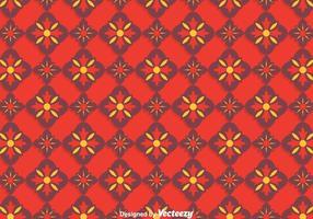 Padrão Tradicional Vermelho De Azulejos Padrão vetor
