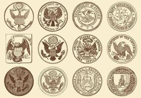 Selos dos EUA vetor