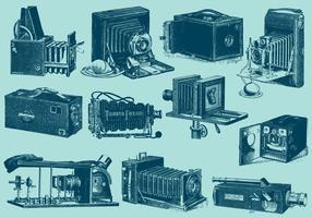 Câmeras antigas vetor