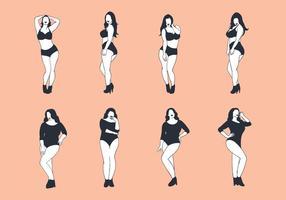 Vector de mulher livre de tamanho mais