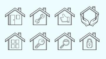 Vetor de ícone de habitação grátis
