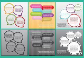 Modelos de palavras-chave de bolhas vetor