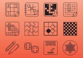 Ícones do jogo da mesa e da mesa vetor