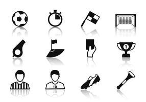 Vetor de ícones de futebol grátis
