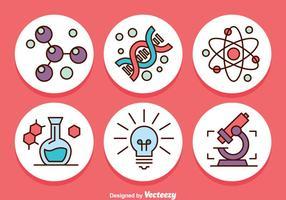 Ícone dos ícones do círculo da ciência vetor