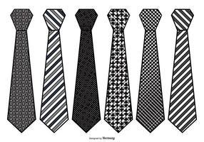 Conjunto de gravatas de vetores para homens