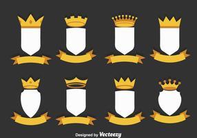 Conjunto de vetores do estilista Shield
