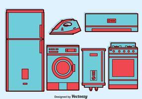 Conjunto de vetores para eletrodomésticos