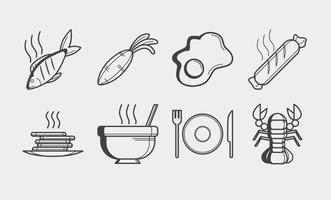 Vector de ícones de Comida Gratuita