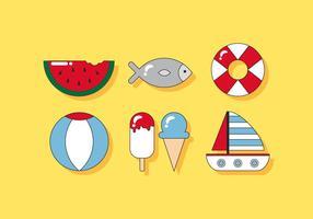 Vetores de praia deliciosos
