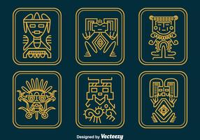 Conjunto de vetores de relíquias inca