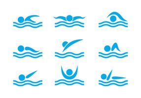 Vector de natação grátis
