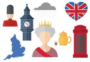 Ícone dos ícones da rainha elizabeth grátis vetor