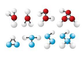 Ícones do vetor Atom