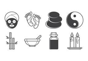 Pacote gratuito de vetores de ícones de spa