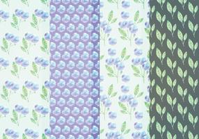 Padrões florais do vetor azul