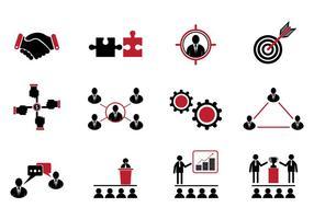 Conjunto de ícones de trabalho em conjunto