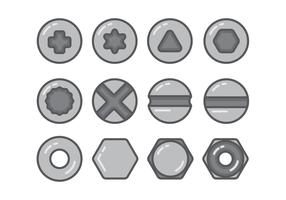 Conjunto de ícones de Nailhead vetor
