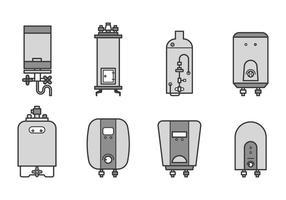 Livre aquecedor de água Vector