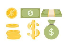 Vetor dólar livre 1