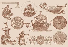 Elementos Viking vetor