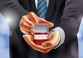 Case-me proposta com um anel vetor