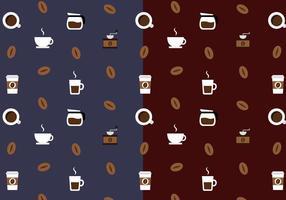Vetor de padrão de café grátis