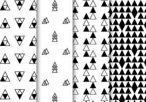 Vector de padrões geométricos preto e branco grátis