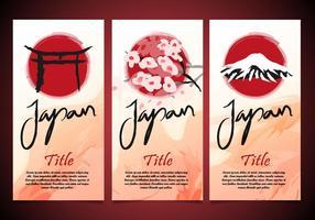 Torii japan flayers template vector