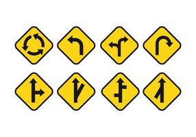 Conjunto livre de vetores de sinais rodoviários