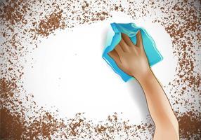 Limpe uma superfície suja vetor