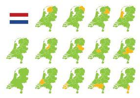 Mapa Gratuito de Holanda vetor