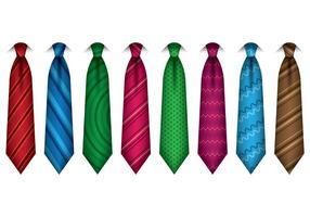 Conjunto de vetor de cravat