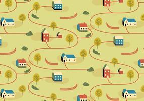 Padrão de ilustração da aldeia