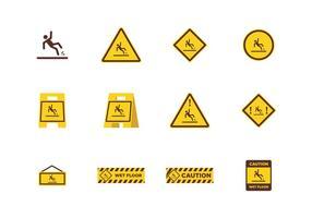 Cuidado piso molhado vetor