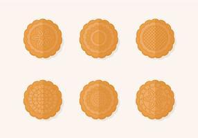 Conjunto de vetores tradicionais Mooncake