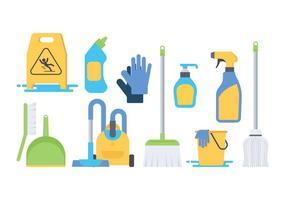 Vector de ícones de limpeza grátis