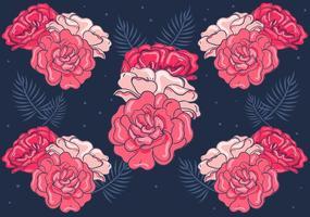 Fundo floral vermelho vetor