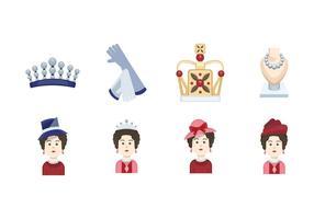 Ícone da rainha Elizabeth vetor