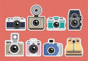 Ícones de vetor de câmera