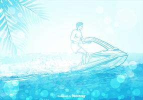 Jet Ski Ilustração vetorial vetor