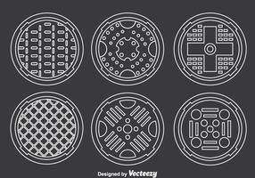 Coleção de Coberturas de Manhole Vector