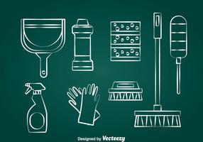 Vetor de ferramentas limpas