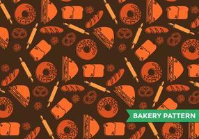 Vetor de padrão de padaria bagel